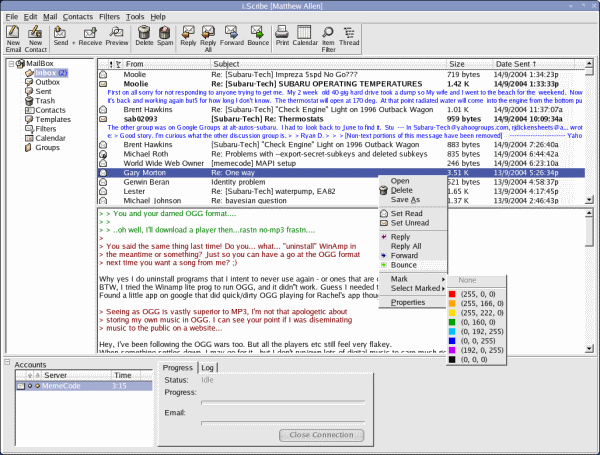 iScribe email client