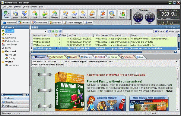 wikmail email client